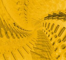 Abstract Yellow Spiral Pattern by bradyarnold