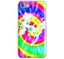 Tie Dye Tie Fighter - white iPhone Case/Skin