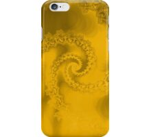 Abstract Yellow Fractal Spiral iPhone Case/Skin