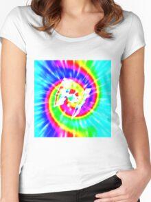 Tie Dye Tie Fighter - white Women's Fitted Scoop T-Shirt
