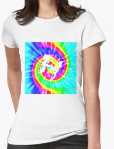 Tie Dye Tie Fighter - white Womens Fitted T-Shirt