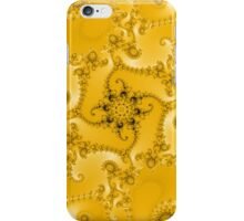 Abstract Yellow Fractal Pattern iPhone Case/Skin