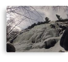 Bow Lake Ice Climb Canvas Print