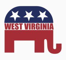 West Virginia Republican Elephant Baby Tee