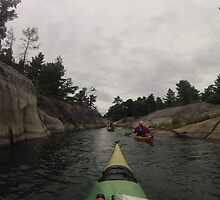 Sea Kayaking In Georgian Bay 2 by jayme128