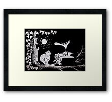 The bear and the womble Framed Print