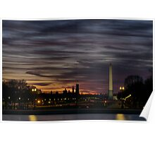 Washington, DC Mall at night HDR Poster