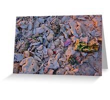 Coloured Rocks Greeting Card