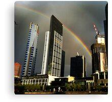 It's a Melbourne rainbow! Canvas Print