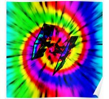 Tie Dye Tie Fighter - black Poster