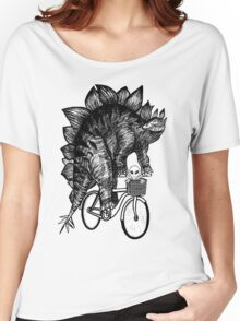 Stegosaurus Alien Bicycle Women's Relaxed Fit T-Shirt