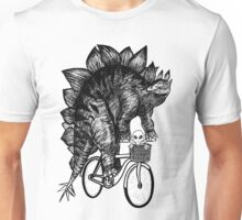 Stegosaurus Alien Bicycle Unisex T-Shirt
