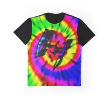 Tie Dye Tie Fighter - black Graphic T-Shirt