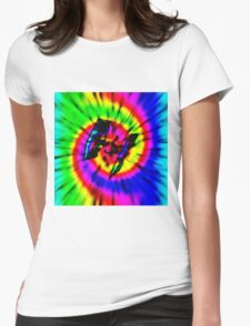 Tie Dye Tie Fighter - black Womens Fitted T-Shirt