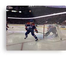 Edmonton Oilers vs. Minnesota Wild - Rexall Place Metal Print