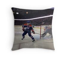 Edmonton Oilers vs. Minnesota Wild - Rexall Place Throw Pillow