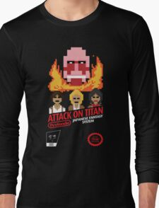 Attack On Titan Nintendo Cartridge Long Sleeve T-Shirt
