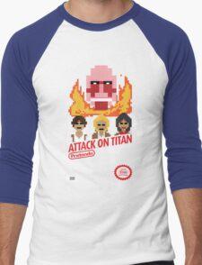 Attack On Titan Nintendo Cartridge Men's Baseball ¾ T-Shirt