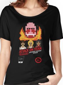 Attack On Titan Nintendo Cartridge Women's Relaxed Fit T-Shirt