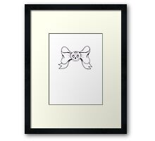 Skull Ribbon Framed Print
