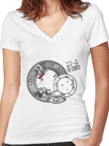 Vampires Don't Do Dishes Women's Fitted V-Neck T-Shirt