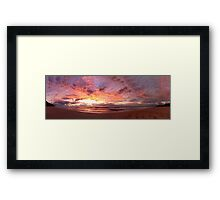 Wombarra Beach sunrise panorama Framed Print
