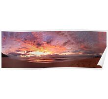 Wombarra Beach sunrise panorama Poster
