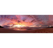 Wombarra Beach sunrise panorama Photographic Print