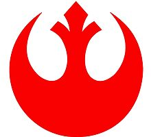 Rebel Alliance Logo Red by TikTakTwo