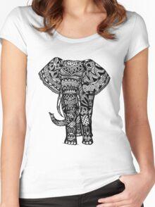 Elephant Aztec Design  Women's Fitted Scoop T-Shirt