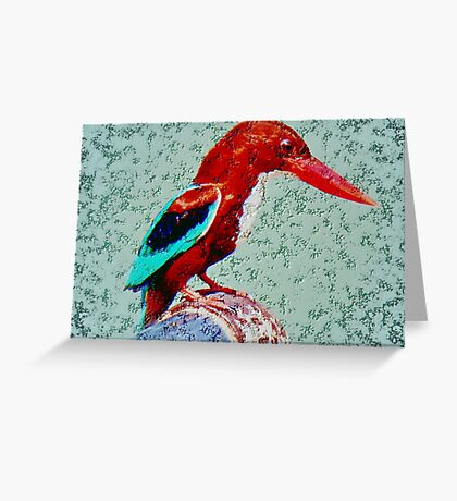 The White Breasted Kingfisher Greeting Card