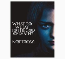 Arya Stark - Not Today by SamanthaSomeone