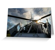Police Helicopter Greeting Card