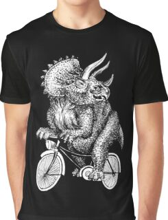 Triceratops Ride Bicycle  Graphic T-Shirt