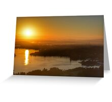 Sunrise over Canberra Greeting Card