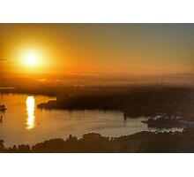 Sunrise over Canberra Photographic Print