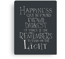 Harry Potter/Albus Dumbledore quote - Happiness Canvas Print