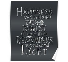Harry Potter/Albus Dumbledore quote - Happiness Poster