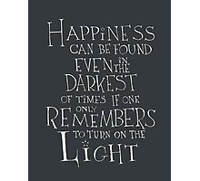 Harry Potter/Albus Dumbledore quote - Happiness Photographic Print