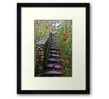 Steps to the Road Framed Print