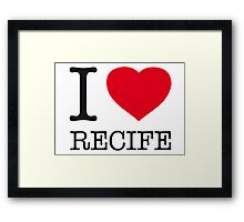 I ♥ RECIFE Framed Print