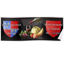 """Association pour la promotion des vins et des produits du terroir de l'Albret - Présente pour la reception du vernissage """"Une Oeuvre …Un Secret """"  Poster"""