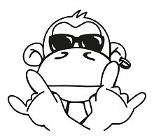 Monkey with sunglasses  by chrisbears