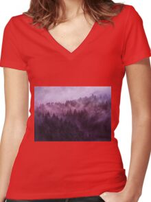 Excuse Me, I'm Lost // Laid Back Edit Women's Fitted V-Neck T-Shirt