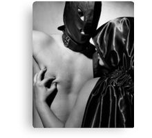Male slave and his Mistress Canvas Print