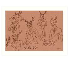 Wendigo study Art Print