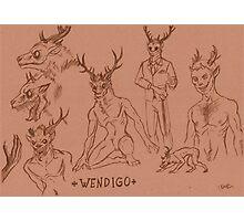 Wendigo study Photographic Print
