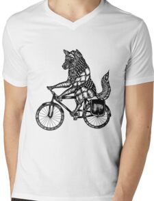 Wolf on a Bike Ride  Mens V-Neck T-Shirt