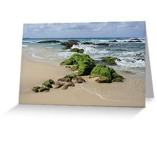 Rocks on Sth Kingscliff .. Greeting Card