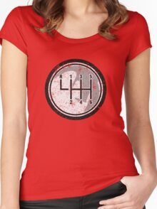6 Gear Shift Knob Women's Fitted Scoop T-Shirt
